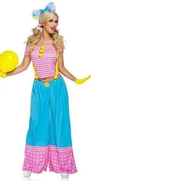 Womens Sexy Floppie The Clown Halloween Costume- S